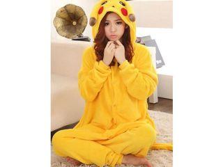 leisurewear animal lovers Pikachu pajamas female flannel cartoon conjoined toilet 8784