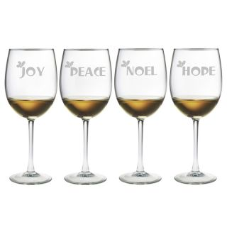 Joy Peace Noel Hope Wine Glass (Set of 4)   17497599