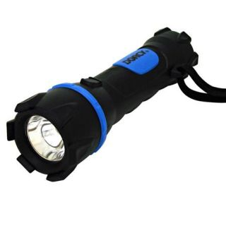 41 2950 Dorcy Dorcy Boss Rubber Flashlight with 2x AA Battery, 35 High Lumens, 100m/328.08 High Beam Distance, Water and Shock Resistant