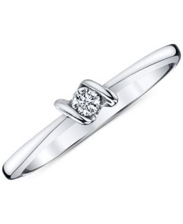 Sirena Diamond Accent Ring in 14k White Gold   Jewelry & Watches
