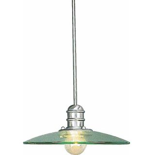 Morin 18 in Brushed Nickel Single Clear Glass Pendant