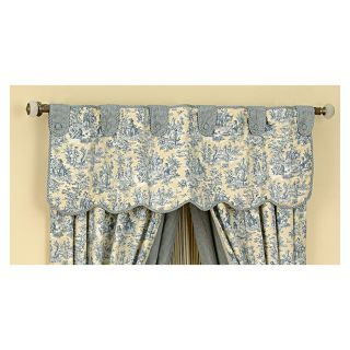 Waverly Home Classics 16 in Lake Cotton Tab Top Valance