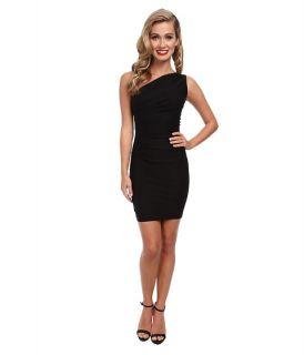 Stop Staring One Shoulder Short Dress Black, Black