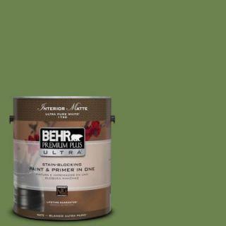BEHR Premium Plus Ultra 1 gal. #430D 6 Happy Camper Flat/Matte Interior Paint 175301