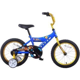 "16"" Titan Champions Boys' BMX Bike, Blue and Gold"