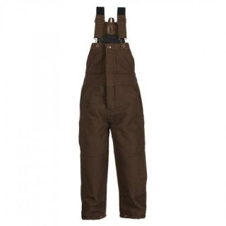 Berne BB21BBR360 Youth Washed Insulated Bib Overall Size S