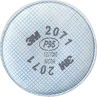 3M OH&ESD 2000 Particulate Filters, P95, Non Oil Particulates, 2/Pack