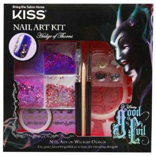 Kiss Disney Kit Good vs Evil Nail Art Kit Hedge of Thorns (Purple)
