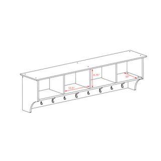 Zipcode™ Design Mackenzie 60 Hanging Entryway 9 Hook Storage Shelf