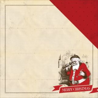 """Have A Merry Christmas Double Sided Cardstock 12""""X12"""" Santa Claus"""