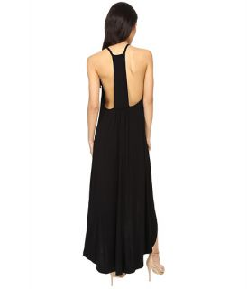 Culture Phit Cynder Spaghetti Strap High Low Dress Black, Black