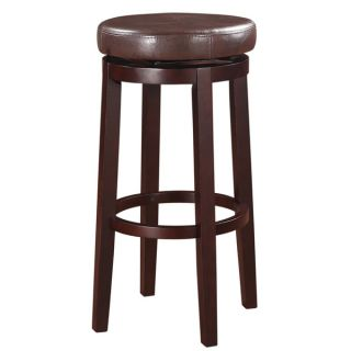 Oh! Home Dorothy Backless Bar Stool Brown Swivel Seat   17123178