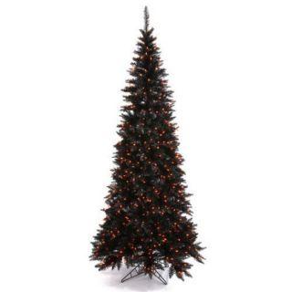 Vickerman 5.5' Silver Slim Fir Artificial Christmas Tree with 300 Mini Clear Lights