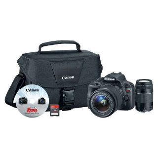 Canon EOS Rebel SL1 18MP Digital SLR Camera with 18 55mm and 75 300mm