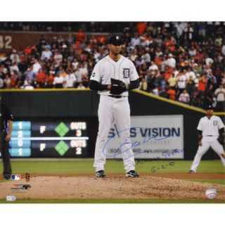 "MLB - Armando Galarraga Detroit Tigers Autographed 16x20 Photograph with ""Almost Perfect 6-2-10"" Inscription"