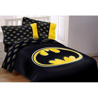 Batman Emblem 4 Piece Twin Reversible Comforter Set   18897373