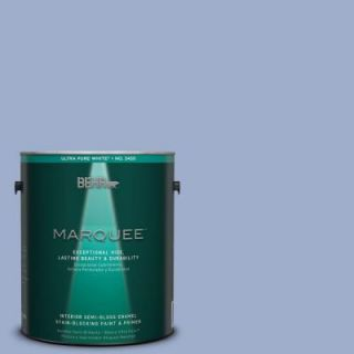 BEHR MARQUEE 1 gal. #MQ5 17 Poetry Reading One Coat Hide Semi Gloss Enamel Interior Paint 345001