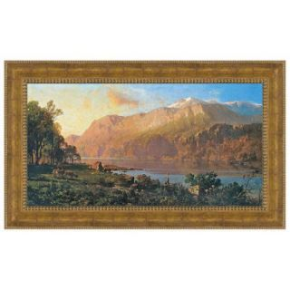Design Toscano Emerald Lake Near Tahoe (1900), by Thomas Hill Framed Painting Print