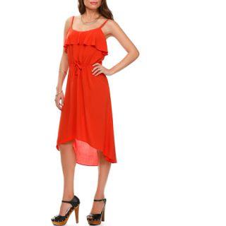 Miss Tina Women's Ruffle Hi lo Dress
