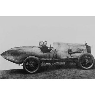 Space Age Car with Fins in Design Far Ahead Photographic Print by