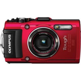 Olympus TG 4 16 MP Waterproof Digital Camera with 3 Inch LCD (Red)