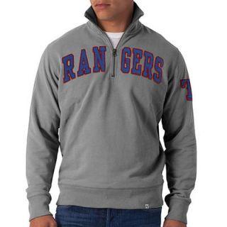 Texas Rangers 47 Striker II Quarter Zip Pullover Sweater   Gray
