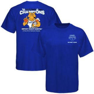 Kentucky Wildcats 2012 NCAA Mens Basketball National Champions Youth Cartoon T Shirt   Royal Blue