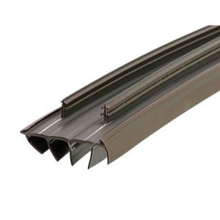 M D Building Products 35 3/4 in. x 1 3/4 in. Brown Kerf Style Replacement Door Bottom with Vinyl Fins 67967