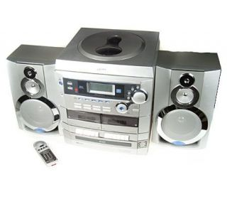 GPX Digital Stereo System w/ 5 CD Changer Dual Cassette and Turntable —