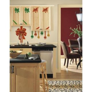 RoomMates 5 in. x 19 in. Holiday Bows Peel and Stick Giant Wall Decals RMK2482GM