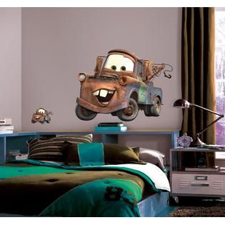 RoomMates Cars   Mater Peel & Stick Giant Wall Decal   Home   Home