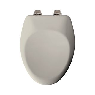 Church Biscuit Wood Elongated Slow Close Toilet Seat
