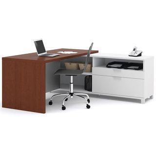 Bestar Pro Linea U Desk with Hutch   17205821   Shopping