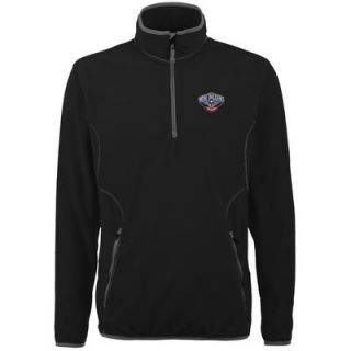 New Orleans Pelicans Antigua Ice 1/4 Zip Lightweight Pullover Jacket   Black