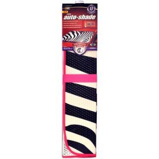 Auto Expressions Zebra Accordion Universal Windshield Shade