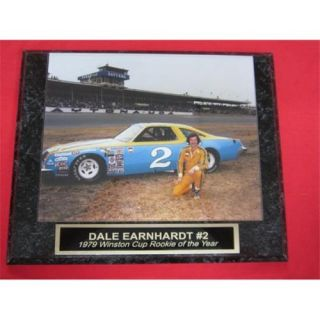 J&C Baseball Clubhouse JC001298 Dale Earnhardt Sr No. 2 ROOKIE OF THE YEAR Collector Plaque No. 6 with VINTAGE 1979 8x10