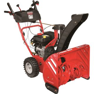 —Troy-Bilt 24in. X-Track 2-Stage Electric Start Snow Blower — 208cc Engine, Model# 31AM6BP2766  2 Stage Snow Blowers