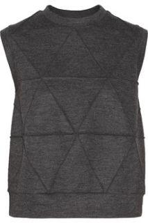 Paneled wool blend jersey top  Derek Lam