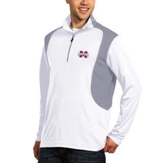 Mississippi State Bulldogs Antigua Delta Quarter Zip Pullover   White