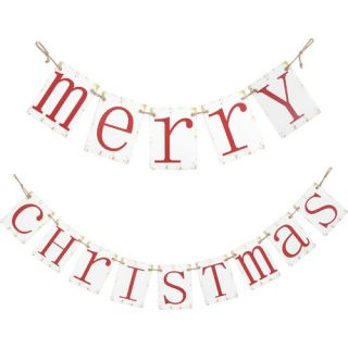 """Transpac Imports, Inc """"Merry Christmas"""" Banner Décor"""