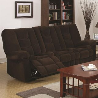 Coaster Furniture 601431 Gail Motion Sofa in Chocolate with Extra High Headrests in Chocolate