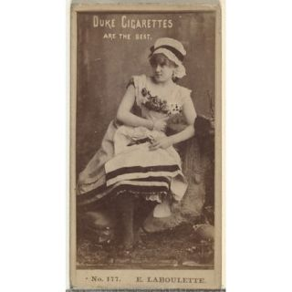 Card Number 177 E. Laboulette from the Actors and Actresses series (N145 6) issued by Duke Sons & Co. to promote Duke Cigarettes Poster Print (18 x 24)