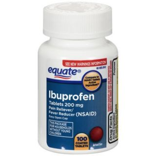 Equate Ibuprofen Tablets with Easy Open Cap, 200mg   100ct