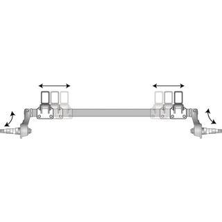 Ultra-Tow Marine-Style Axle Brackets — 2 Brackets, For 3750-Lb. Adjustable Torsion Axle  3,500 Lb. Adjustable Trailer Torsion Axles