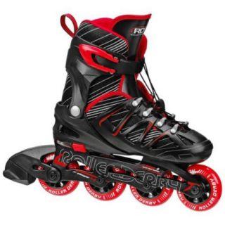 Roller Derby Stinger 5.2 Adjustable Boy's Inline Skates   I141B (Black/Red   Small (12 2))