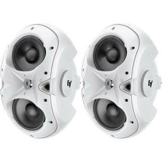Electro Voice EVID 6.2 Dual 6 Two Way Surface Mount Loudspeaker, Pair, White F.01U.117.533