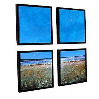 ArtWall Blue Sky Day 4 Piece Canvas Square Set 48 x 48 Floater Framed (0gro005e4848f)