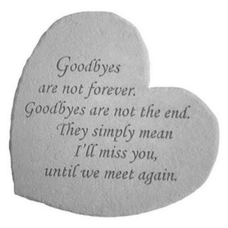Kay Berry 08602 Great Thought Hearts  Goodbyes are not. . .