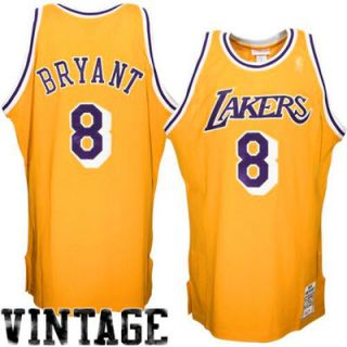 Mitchell & Ness Kobe Bryant Los Angeles Lakers 1996 1997 Hardwood Classics Throwback Authentic Home Jersey   Gold