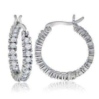 Carolina Glamour Collection Cubic Zirconia Sterling Silver Yin Yang